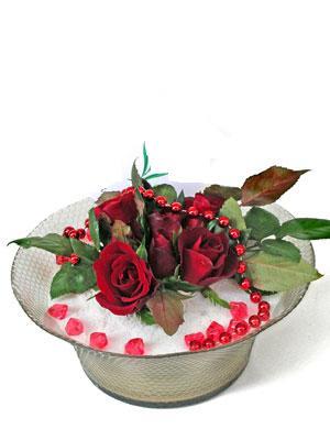 Konya çiçek satışı  EN ÇOK Sevenlere 7 adet kirmizi gül mika yada cam tanzim