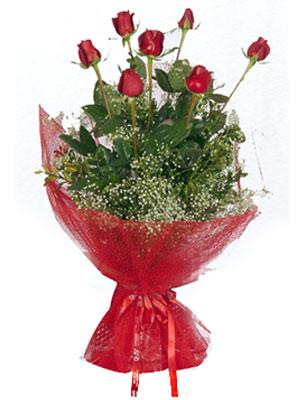 Konya çiçek siparişi vermek  7 adet gülden buket görsel sik sadelik