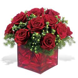 Konya çiçek servisi , çiçekçi adresleri  9 adet kirmizi gül cam yada mika vazoda
