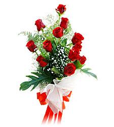 11 adet kirmizi güllerden görsel sölen buket  Konya çiçek satışı