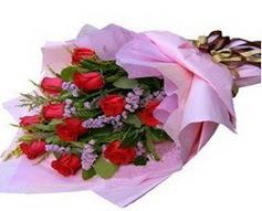 11 adet kirmizi güllerden görsel buket  Konya çiçek online çiçek siparişi