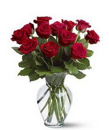 Konya çiçek online çiçek siparişi  cam yada mika vazoda 10 kirmizi gül