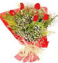 Konya internetten çiçek satışı  5 adet kirmizi gül buketi demeti