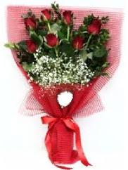 7 adet kırmızı gülden buket tanzimi  Konya ucuz çiçek gönder