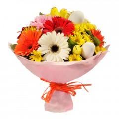 Karışık mevsim buketi Mevsimsel çiçek  Konya çiçekçi telefonları