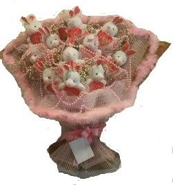 12 adet tavşan buketi  Konya online çiçek gönderme sipariş