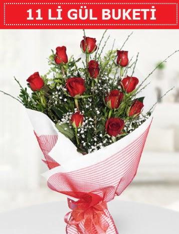 11 adet kırmızı gül buketi Aşk budur  Konya çiçek online çiçek siparişi