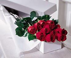 Konya güvenli kaliteli hızlı çiçek  özel kutuda 12 adet gül