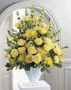 Konya çiçek gönderme sitemiz güvenlidir  sari güllerden sebboy tanzim çiçek siparisi
