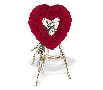 Konya çiçek yolla  karanfillerden kalp pano