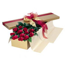 Konya hediye çiçek yolla  10 adet kutu özel kutu