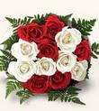 Konya yurtiçi ve yurtdışı çiçek siparişi  10 adet kirmizi beyaz güller - anneler günü için ideal seçimdir -