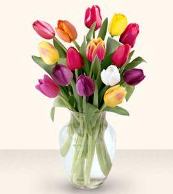Konya çiçek gönderme  13 adet cam yada mika vazoda laleler