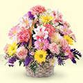 Konya çiçekçi mağazası  sepet içerisinde gül ve mevsim