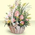 Konya çiçek siparişi sitesi  sepette pembe güller