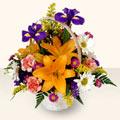 Konya çiçek siparişi sitesi  sepet içinde karisik çiçekler