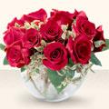 Konya internetten çiçek siparişi  mika yada cam içerisinde 10 gül - sevenler için ideal seçim -