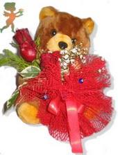 oyuncak ayi ve gül tanzim  Konya çiçek gönderme