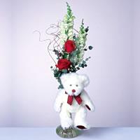 2 adet gül ve panda özel  Konya İnternetten çiçek siparişi
