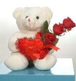 3 adetgül ve oyuncak   Konya 14 şubat sevgililer günü çiçek