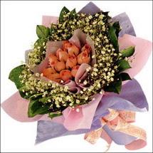 11  adet  gül ve   elyaflar   Konya İnternetten çiçek siparişi