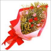 12 adet renkli  gül buketi   Konya İnternetten çiçek siparişi