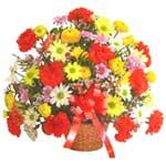 karisik renkli çiçek sepet   Konya çiçek online çiçek siparişi