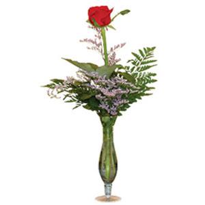 vazo içerisinde tek gül   Konya çiçek online çiçek siparişi