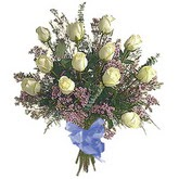 bir düzine beyaz gül buketi   Konya çiçek online çiçek siparişi