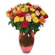 51 adet gül ve kaliteli vazo   Konya çiçek online çiçek siparişi