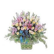 sepette kazablanka ve güller   Konya çiçek mağazası , çiçekçi adresleri
