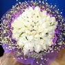 71 adet beyaz gül buketi   Konya yurtiçi ve yurtdışı çiçek siparişi