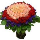 71 adet renkli gül buketi   Konya online çiçekçi , çiçek siparişi