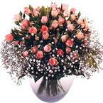 büyük cam fanusta güller   Konya çiçek servisi , çiçekçi adresleri
