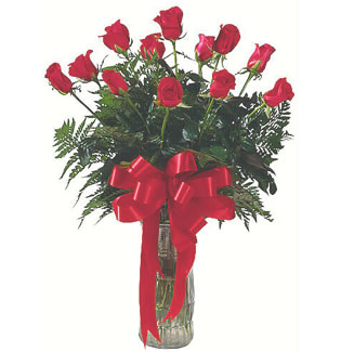 12 adet gül cam içerisinde  Konya hediye çiçek yolla