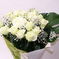 Konya çiçek yolla , çiçek gönder , çiçekçi   11 adet sade beyaz gül buketi