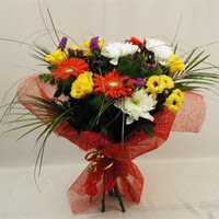 Konya çiçek yolla , çiçek gönder , çiçekçi   Karisik mevsim demeti