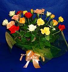 Konya çiçek yolla , çiçek gönder , çiçekçi   13 adet karisik renkli güller