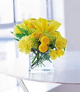 Konya online çiçekçi , çiçek siparişi  sarinin sihri cam içinde görsel sade çiçekler