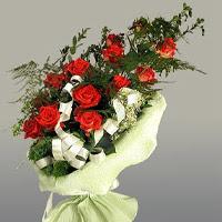 Konya online çiçekçi , çiçek siparişi  11 adet kirmizi gül buketi sade haldedir