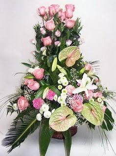 Konya online çiçekçi , çiçek siparişi  özel üstü süper aranjman
