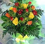 13 adet karisik gül buketi demeti   Konya çiçekçi mağazası