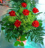 6 adet kirmizi gül buketi   Konya çiçek , çiçekçi , çiçekçilik