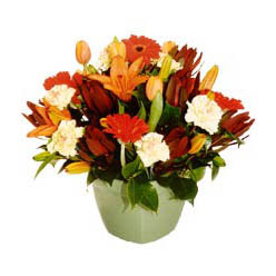 mevsim çiçeklerinden karma aranjman  Konya anneler günü çiçek yolla