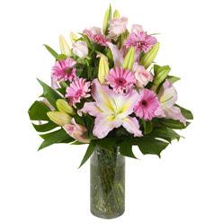 vazo içerisinde karisik mevsim çiçekleri  Konya çiçekçi telefonları