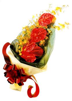 özel 5 adet antorium buketi   Konya çiçek online çiçek siparişi