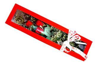 Konya çiçek yolla , çiçek gönder , çiçekçi   Kutuda 3 adet gül