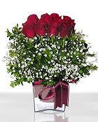 Konya yurtiçi ve yurtdışı çiçek siparişi  11 adet gül mika yada cam - anneler günü seçimi -