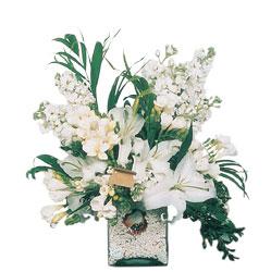 Konya çiçekçi telefonları  sadece beyazlardan olusmus mevsim cam yada mika tanzim