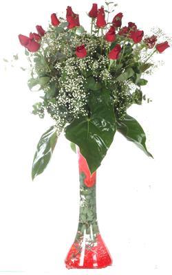 Konya çiçekçi mağazası  19 ADET GÜL VE FIL CAM AYAGI